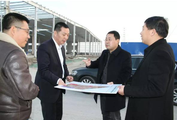 副区长薛波调研曹妃甸区十一农场家具产业园项目建设工作