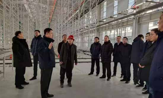 唐山市汉沽管理区领导到河北英迈木业调研