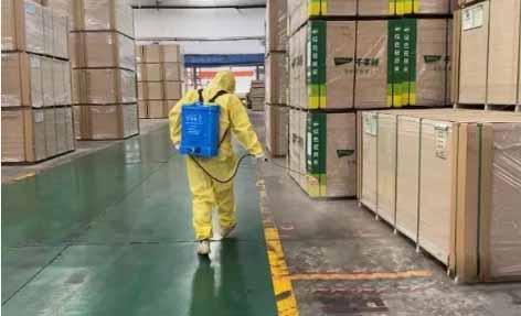 企业对生产区、办公区进行消毒