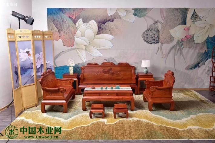 缅甸花梨红木沙发价格