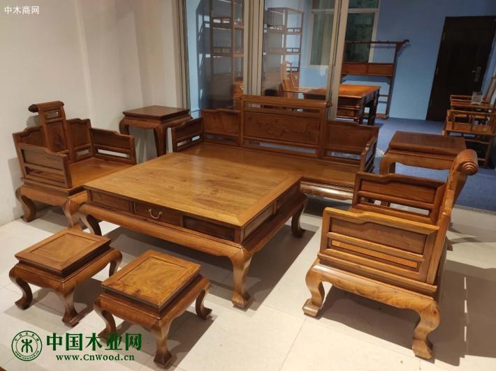 缅甸花梨红木沙发图片