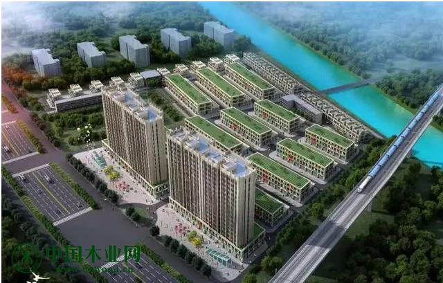 图:临颍县木业家居市场鸟瞰图