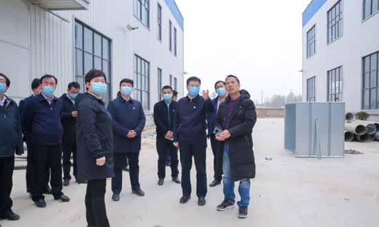 河南清丰县委书记一行督导检查家居项目建设情况