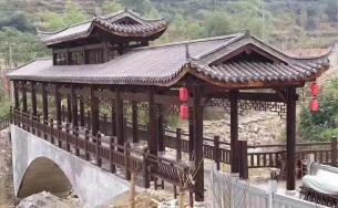 四川廊桥制作施工、景观廊桥亭廊