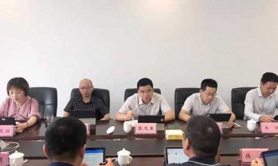 温州市工业与能源集团董事长张志东带队莅临温州木材公司调研