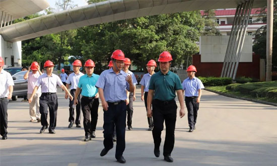 梧州市副市长何世恰到广西三威林产工业有限公司调研服务