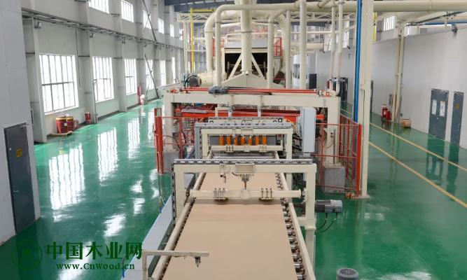 江苏新东方年产25万m³超强刨花板试产成功