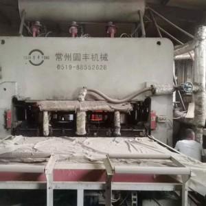 二手4*8圆丰1400吨装饰板贴面热压机图片