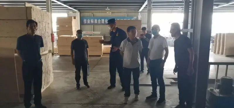 睢宁县专治办对沙集镇多家家具企业问题隐患整改现场督导