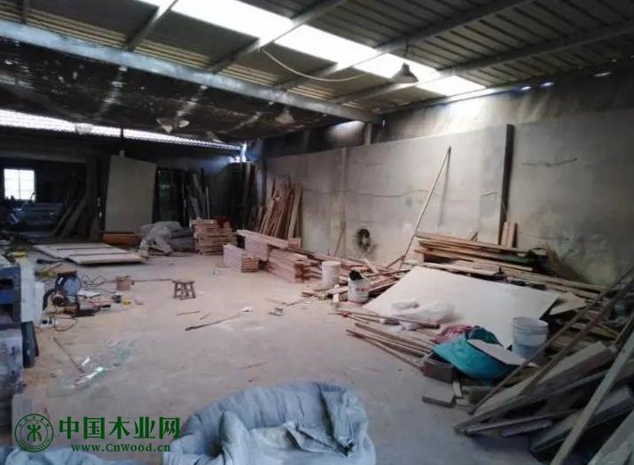 江苏取缔一处非法木材加工厂