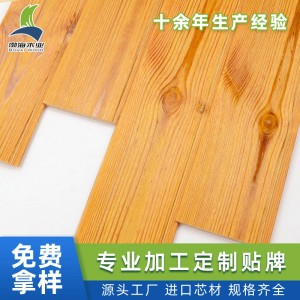 定制橙色浅碳拉丝免漆桑拿板彩色实木扣板
