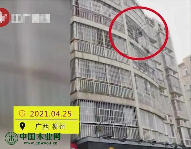 广西一男子从5楼狂扔家具,楼下几辆车无辜被砸