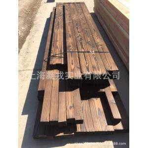 工厂定制花旗松碳化木 户外景观建筑适用 碳化木桑拿板墙板