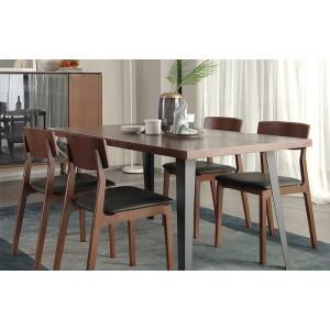 环保家具北欧现代简约餐厅实木腿饭桌 曲美家居餐厅家居实木餐椅
