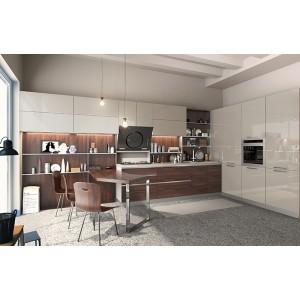 现代风格橱柜组合厨房装修 定制梦想厨房 曲美家居整体橱柜定制
