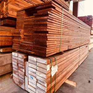 印尼菠萝格实木户外防腐木地板料 规格料房梁木板材