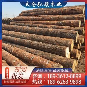 批发樟子松原木 俄罗斯樟子松木材 建筑木方 防腐木板材定制