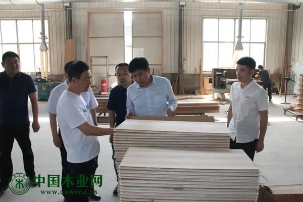 山东省家具协会一行走访宁津家具企业