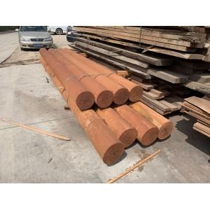 张家港致禾木业印尼菠萝格防腐木古建圆柱实木柱子户外圆木