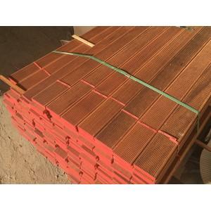 张家港致禾印尼菠萝格防腐木地板防滑槽户外实木板材烘干
