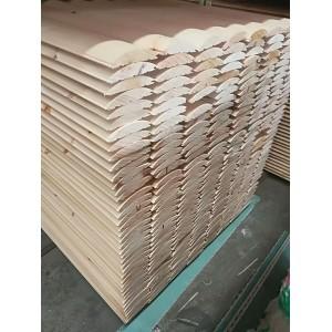 苏州致禾木业户外实木墙板外墙板木屋装饰板弧形挂板月亮板